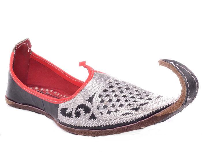 Handmade Pakistani Leather Khussa shoes Men Mojari Maharaja juti Size US 10