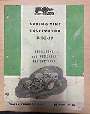Ferguson Spring Tine Cultivator S Ko 20 Operating Assembly Instruction Manual