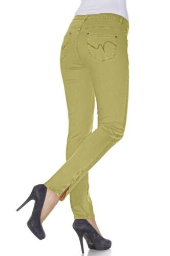 B.C femmes pantalons Colour Denim Chino tube pantalon pistache 002066