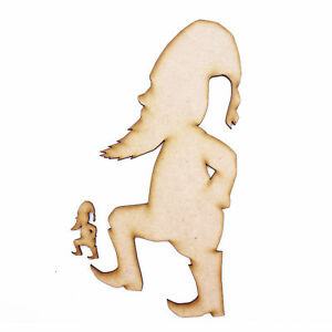 3mm MDF Wooden Laser Cut Shapes Various Sizes Gnome