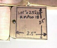 Ampco 18 C95400 Aluminum Bronze Plate 25 X 25 X 105 Inch 3 Lb Block
