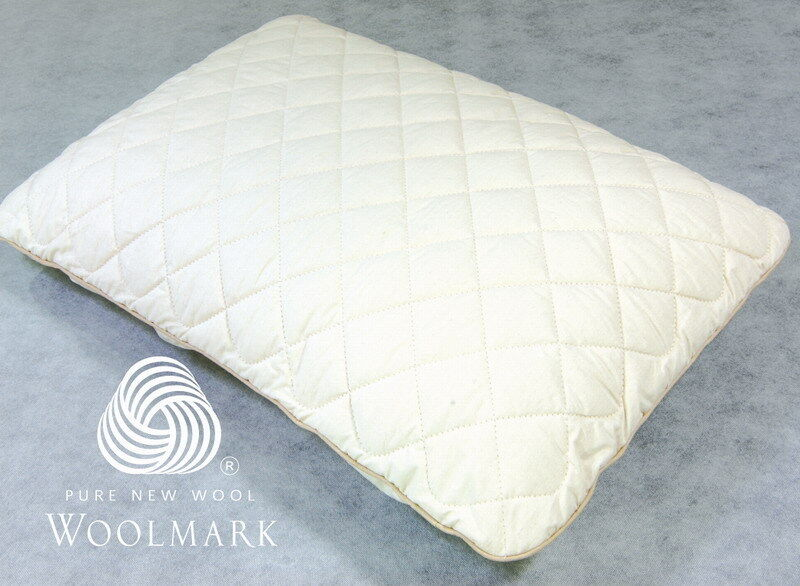 Adult Size 60x40x12cm Regular Shape Latex Pillow + Washable Wool Predector