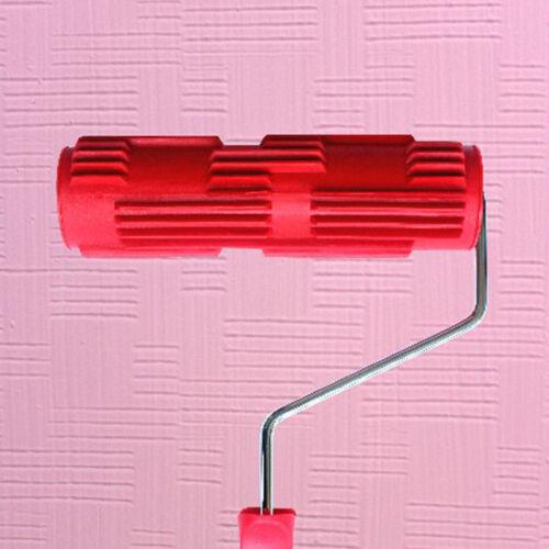 7 Bricks Wall Pattern Embossed Painting Roller Home DIY Plastic Handle UK