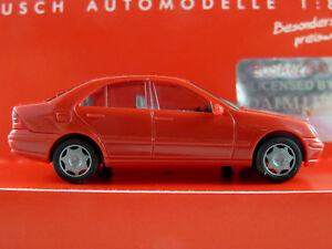 Busch-89135-Mercedes-Benz-Clase-C-Limousine-2000-2004-en-rojo-1-87-h0-nuevo-en-el-embalaje-original