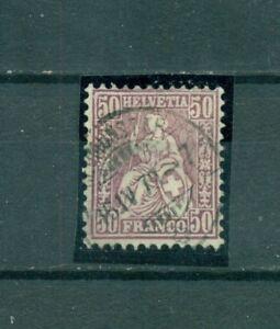 Schweiz-Sitzende-Helvetia-Nr-35-a-gestempelt