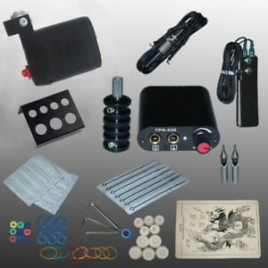 Details about Beginner Tattoo Kits Cartarage Rotary Tattoo Machine  Professional Power needles