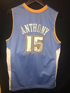 official photos a85ea 60d5f Details about NBA NIKE Denver Nuggets Jersey Carmelo Anthony #15 Men Size XL