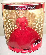 #9393 RARE NRFB Leo Mattel India Happy Holiday's Barbie in Red Dress Special Ed.