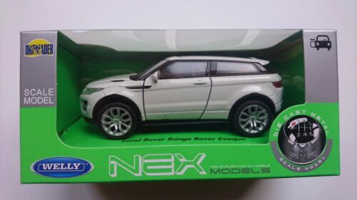 WELLY RANGE ROVER EVOQUE WHITE 1:34 DIE CAST METAL MODEL NEW IN BOX LAND ROVER
