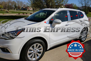 2016-2020-Buick-Envision-12Pc-Chrome-Pillar-Post-Stainless-Steel-Trim-Door-Cover