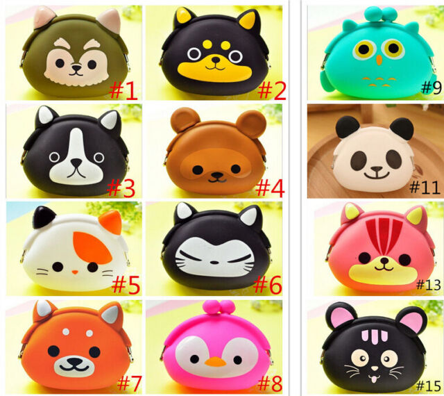HOT Sell Kids' Storage Animal Silicone Coin Bag Change Wallet Purse сова панда