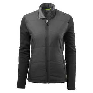 Kathmandu Ohau Womens Windproof Zip Up Warm Winter Fleece Jacket Black