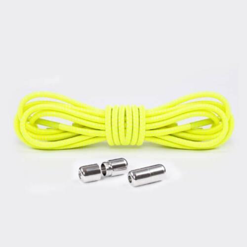 Elastic Shoe Laces Strings Adult Kids Shoelaces No Tie Locking Round Sneakers