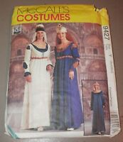 Mccall's Costume Pattern9427size Y Small Mediumrenaissance Maiden Dress Hats