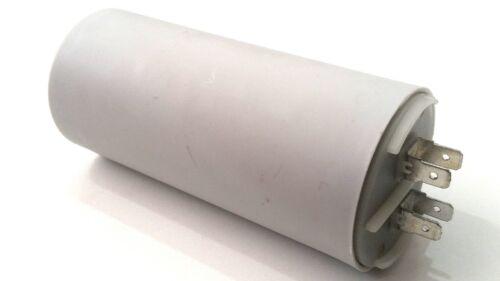 PLASTIC ROUND RUN CAPACITOR 55µF 55UF 400-500V 4 TERMINALS INDUSTRIAL MOTOR