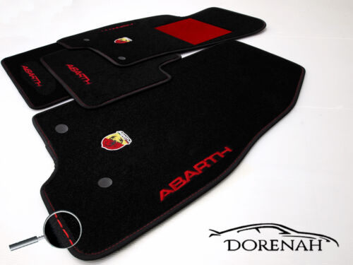 Tapis Grande Punto Evo Abarth Bords Personnalisable No Original 0009