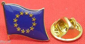 Europa-UE-Bandera-Solapa-Gorro-cordon-Prendedor-pin-Broche-EURO-UNION