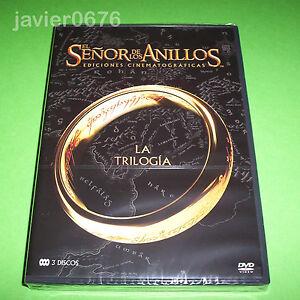 EL SEÑOR DE LOS ANILLOS TRILOGIA DVD NUEVO PRECINTADO EDICIONES CINEMATOGRAFICAS