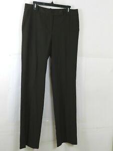 Talbots-Brown-Signature-Stretch-Dress-Pants-Bootcut-Womens-size-10-Long