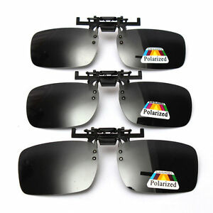 Flip-on-Polarized-Clip-on-Over-sunglass-glasses-eyeglass-spectacle-lens-Driving