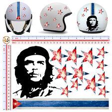 adesivi casco stelle bandiera cuba che guevara sticker helmet flag cuba 14 pz.