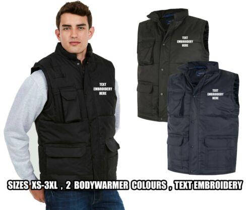 High Quality Personalised Full Zip Work Wear Uneek EMBROIDERED BODYWARMER