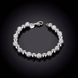 Bracelet-argent-034-Silver-Frozen-Pearls-034-8-mm-X-19-5-cm-Env-de-France-immediat