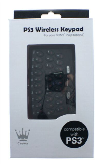 Crown Wireless Keypad Keyboard for PS3 Controller PlayStation 3 - New