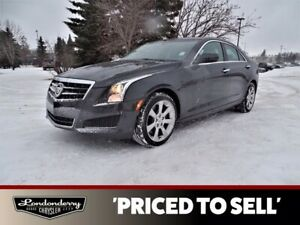 2014 Cadillac ATS AWD 2.0T Accident Free,  Leather,  Heated Seats,  Sunroof,  Bluetooth,