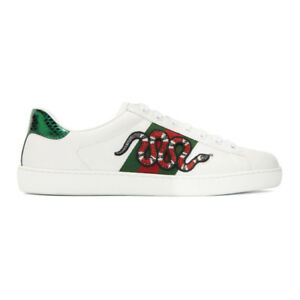 Gucci White Snake Ace Sneakers | eBay