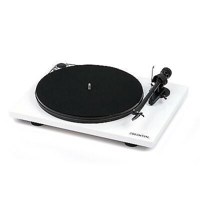 Pro-Ject Essential III Turntable (White).  Belt Drive, Aluminum Tonearm. NEW