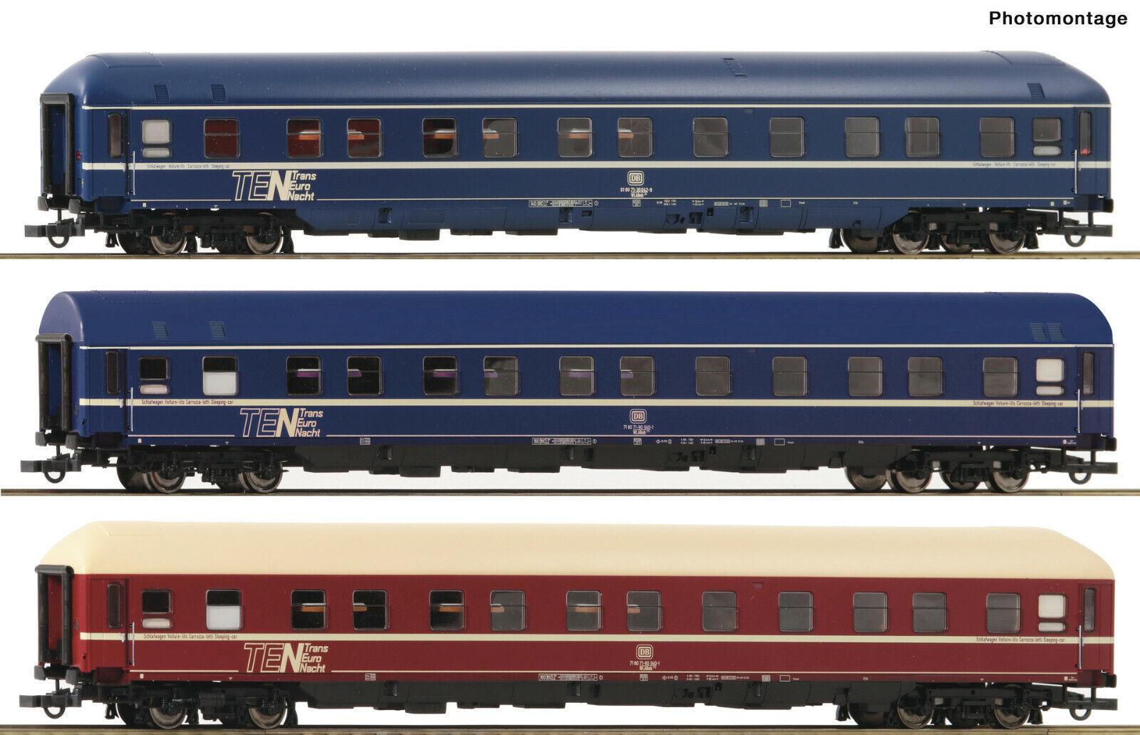 Roco H0 74129 - 3-tlg. Set Set Set  Schlafwagen, DB, Ep. IV   Neuware  | Einfach zu bedienen  73e52f