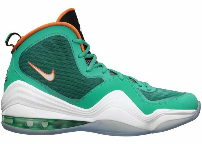 Nike Air Penny V 5 size 9. Teal Green orange. Miami Dolphins. 537331-300.