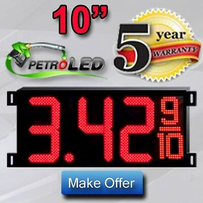LED GAS PRICE SIGN DIGITAL CHANGER (2) 10