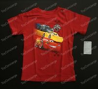 Disney Store Tee For Boys Cars 3 Red T Shirt Choose Size