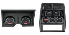 1978-82 Chevy Corvette Black Alloy & Red Dakota Digital VHX Analog Gauge Kit