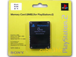 SONY-PS2-8MB-MEMORY-CARD-IN-BLACK-NEW-amp-SEALED-all-region-new