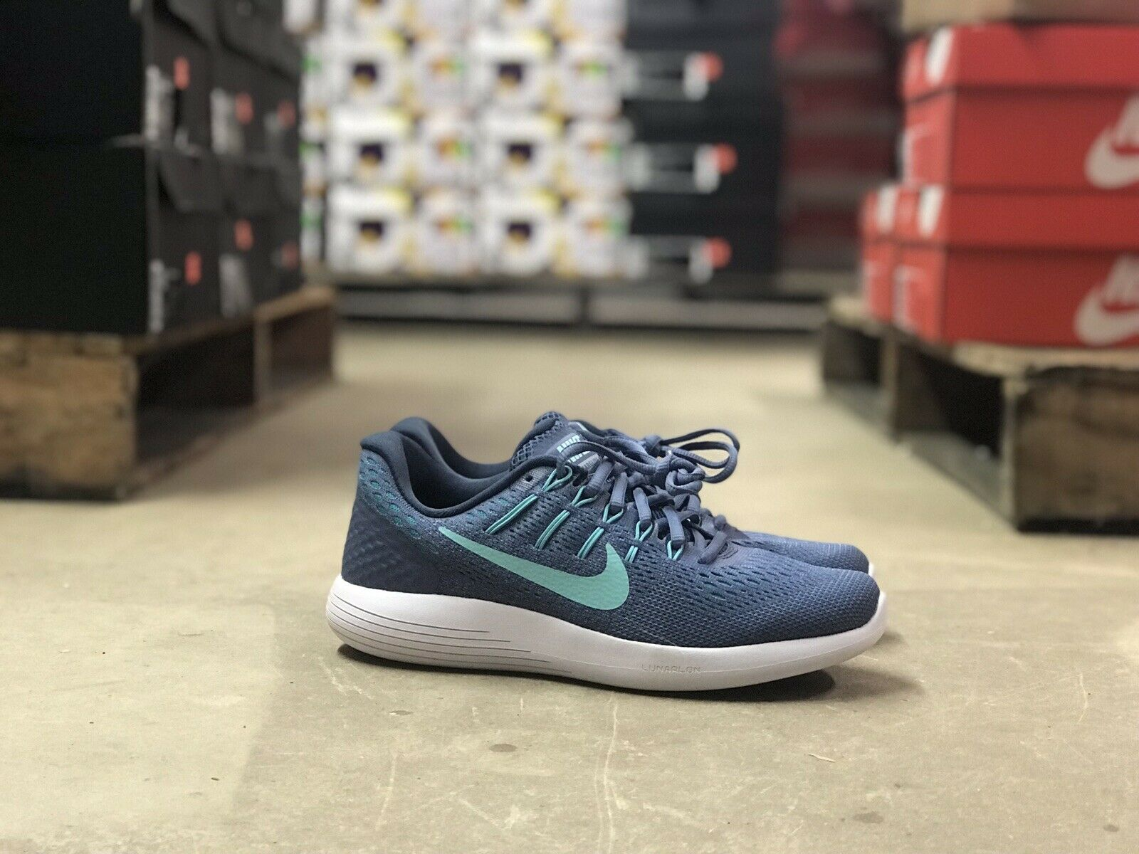 Nike Lunarglide 8 Womens Running shoes bluee Teal White AA8677-400 Size 6