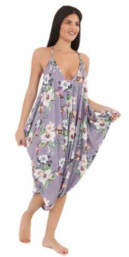 Ladies Cami Lagenlook Romper Baggy Harem Jumpsuit Playsuit Dress Size 10 to 28