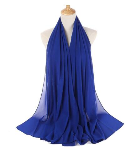 175X80 Maxi *Chiffon* Premium Quality Plain Scarf Hijab Sarong Showl Large Silk