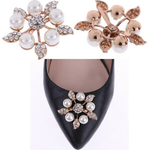1Pc-Faux-pearl-women-shoe-clip-decor-bridal-shoes-rhinestone-clip-buckSK