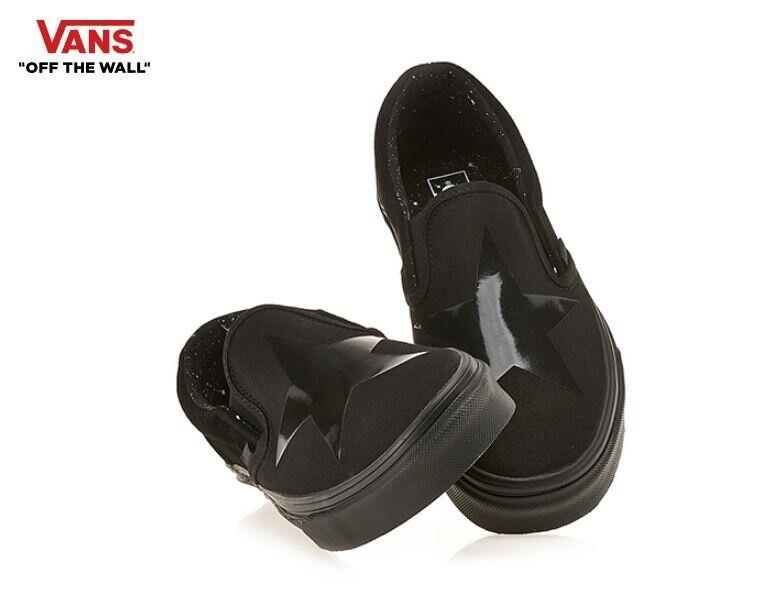 Vans David Bowie X Classic Slip-on 2019 Black Fashion Sneakers,shoes Men's