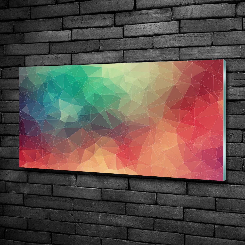 Vetro-Immagine Parete immagini Stampa su vetro 100x50 Decorazione Arte PERSONAGGI geometrica