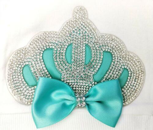 Personalise Newborn Baby Girl Boy Romper Fancy Bow Crown Gift Set Sleep suit