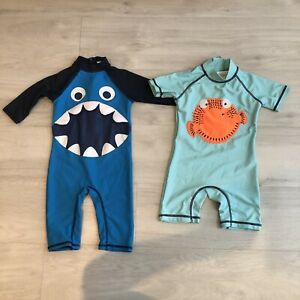 Baby Boy SwimSuit Sunsafe 18-24months (2 Suits Both Great Condition) 🐠