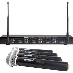 Gemini UHF-04M 4 Handheld UHF Wireless Microphone System Toronto (GTA) Preview