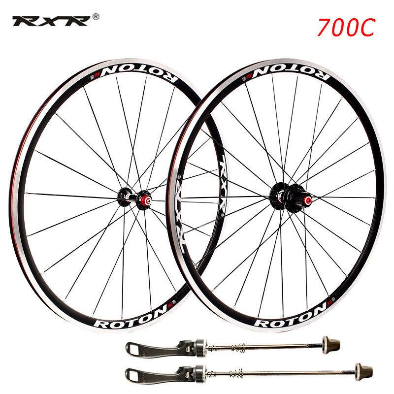 Bicicleta de Carretera Bicicleta 700C cojinete sellados ruedas 7-11S V Brake Remachador F&R Conjunto de Ruedas