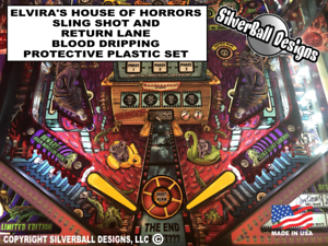 Elvira-039-s-House-of-Horrors-Sling-Shot-amp-Return-Lane-Protective-Plastic-Set-Stern