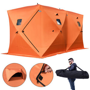 Image is loading Waterproof-Pop-up-8-person-Ice-Shelter-Fishing-  sc 1 st  eBay & Waterproof Pop-up 8-person Ice Shelter Fishing Tent Shanty Window ...