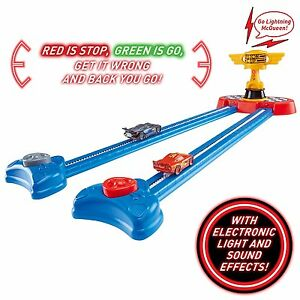 Details about Cars 3 Lightning McQueen Piston Cup Race Red Green Light Game  Ages 3+ Toy Play